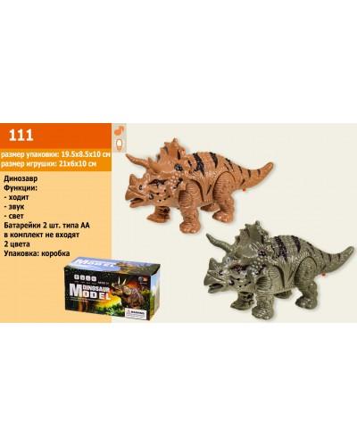 Животные 111 динозавр, свет, звук, ходит, в кор.19,5*8,5*10см