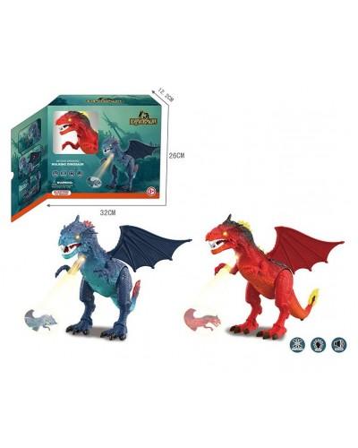 Интерактивное животное 1041A Дракон, 2 цвета, свет, звук, проектор, в коробке 32*26*12см