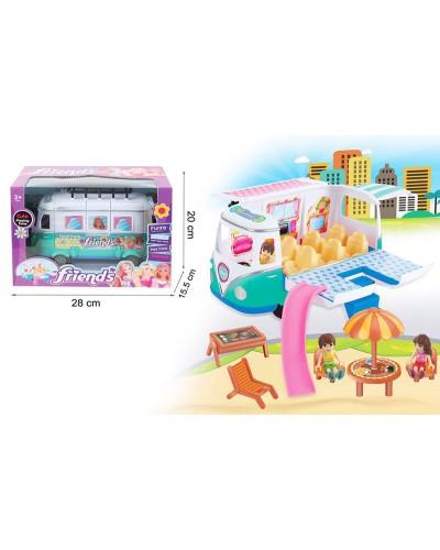 Машина 7889 фургон с куколками и мебелью, в кор.28*20*15,5 см