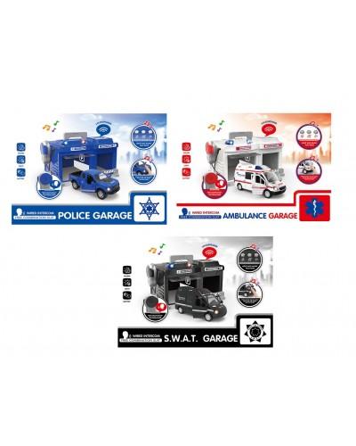 Паркинг CLM-556/7/8 машина, свет, звук, 3 вида, в кор.