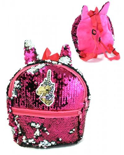 Рюкзак пайетки BG7028 микс цветов, 21*20 см в пакете