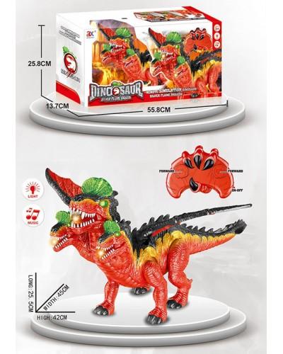 Животное на р/у  844B динозавр, свет, звук, ходит, пульт, изделие 25*45*42, в кор.