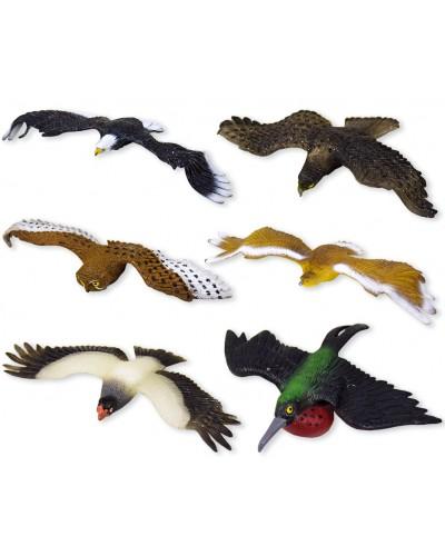 Животные W6328-426/474/484/5/6/7 птицы, 6 микс, в пакете 19*17см