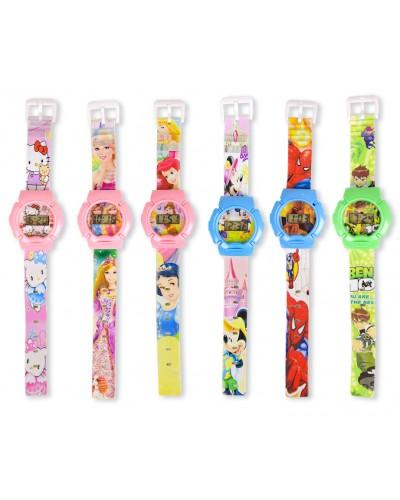 Детские наручные часы AS4241 электр. циферблат, микс видов, в пакете 6*24,5см
