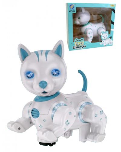 Интерактивное животное 9883 Кошка, батар, движ, звук, свет, в коробке 24*24см