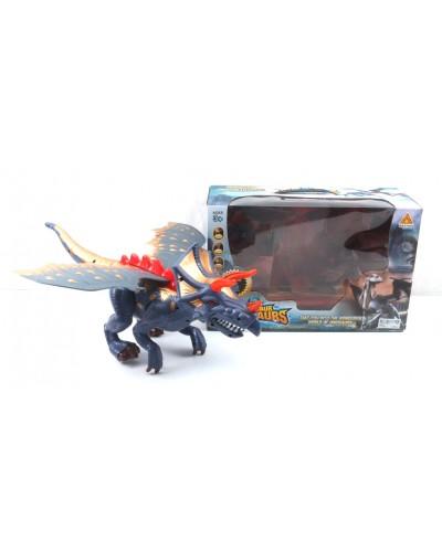 Интерактивное животное 60097 динозавр, звук, ходит, в коробке 36*24*15 см