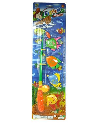 Рыбалка 555-610 магнит. удочка, 4 морских животных, на планшетке 52*15*3см