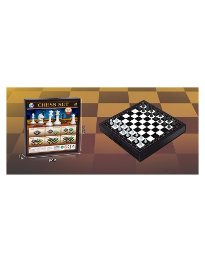 "Шахматы 477L-1M ""3в1"", шашки, нарды, в коробке 20*20*3см"