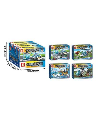 Конструктор  SD9506-9509 Police, цена за дисплей бокс, 28*21*5,8 см
