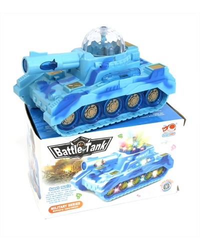 Муз. танк 86-112 батар, муз, свет, в кор. 18*10*10см