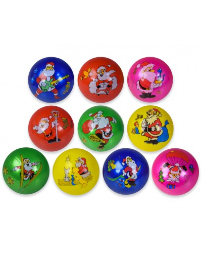 Мяч резиновый YW1895 22cm 60g, 10 вид, 5 цвет.