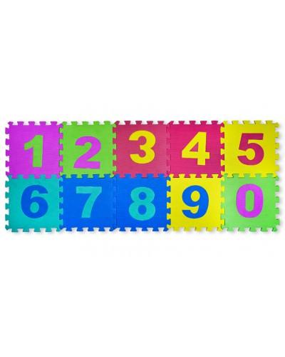 Пазлы фомовые EVA0635 цифры, 10 деталей, 1деталь: 28,5*28,5*0,8 см, в пленке