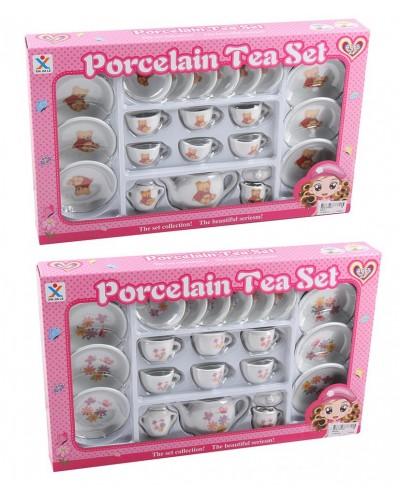 Посуда фарфор 808-A1/A4 чайный набор на 6 персон, заварник, чашки, блюдца, в кор. 43*26,5*5см