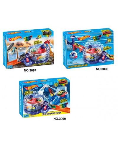 Трек инерц. 3097/3098/3099  3 вида, машина меняет цвет, в коробке 50*6,5*31,5см