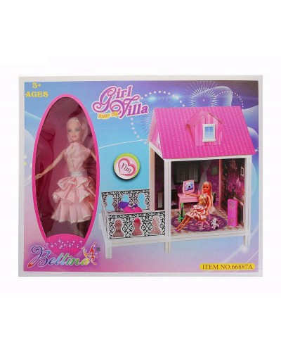 Домик 66887A с куклой, в кор. 44,0*36,0*12,0см