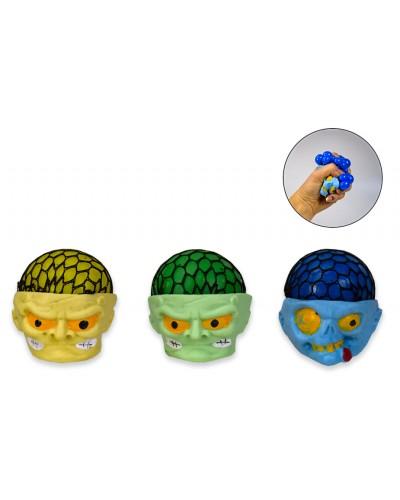 Мяч лизун PR190522  3 цвета, размер 7 см, по 12 шт. в дисплей боксе 28*20*7,5 см (цена за 1шт)
