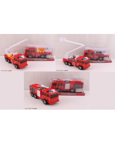 Пожарная техника инерц. 129-1/3/4  3 вида, под слюдой 17*6*8см