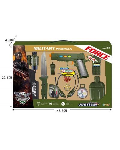 Полицейский набор 34360 пистолет, дубинка, рация, значок, в коробке 46,5*29,5*4,3см