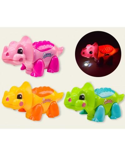Муз. игрушка EM-280B Динозаврик-проектор, 3 цвета, в коробке 26*11,5*13,5см