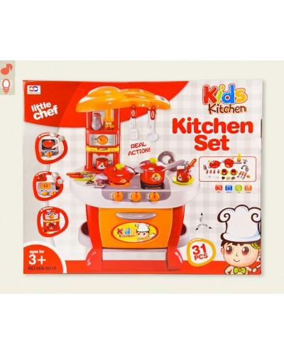 Набор Кухня 008-801A свет-звук, посудка, приборы, плита, духовка, размер в собр. виде: 51*30*73см