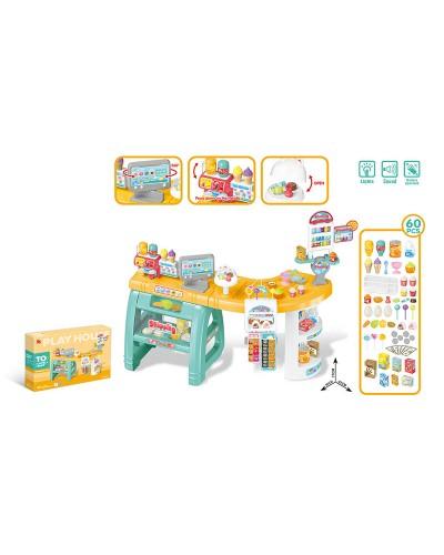 Набор Магазин 668-65 свет, звук, касса, весы, продукты, в коробке 78,5*12,5*55 см