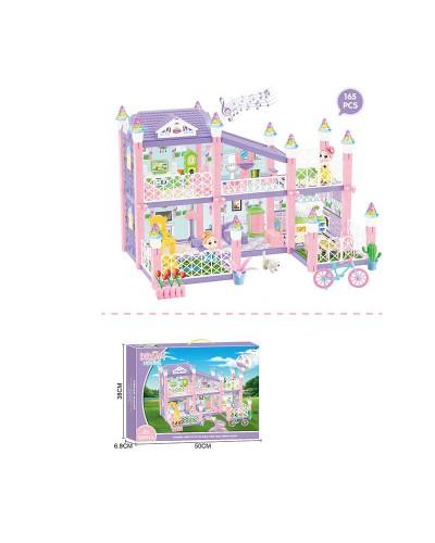 Домик 326-D4 свет, звук, 2 этажа, куколка, мебель, аксес., в кор. 50*7*38см