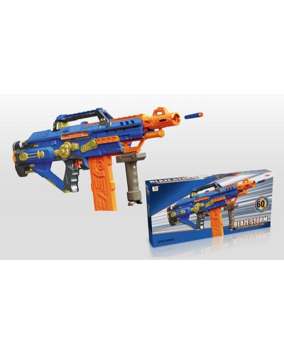 Бластер 7052 стреляет поролон. снарядами, 60 снарядов в комплекте, в кор. 74,5*40*9,5 см