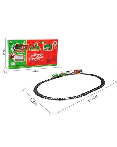 """Железная дорога """"MERRY CHRISTMAS"""" 238-3 батар., свет, звук, в коробке 54*29*6см"""