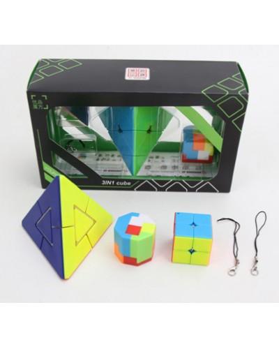 Кубик-логика 2204 в наборе 3 кубика, в коробке 22*8*13см