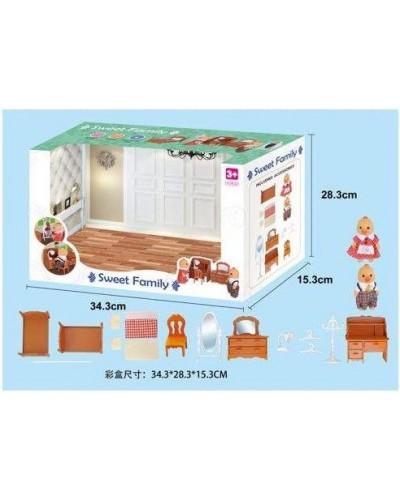 Животные флоксовые 1602F Спальня, фигурки животных в комплекте, в коробке 34*28*15см