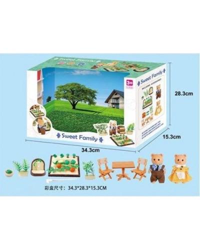 Животные флоксовые 1605F огород, фигурки животных в комплекте, в коробке 34*15*28см