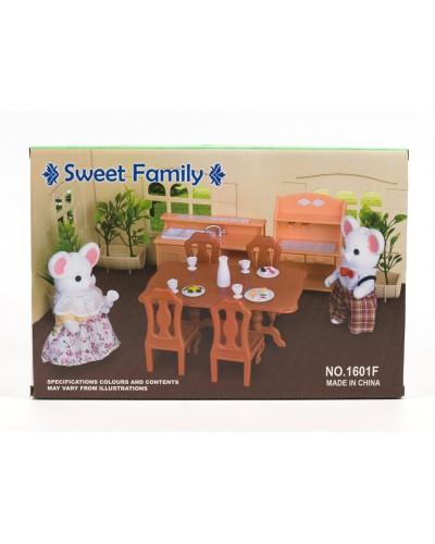 Животные флоксовые 1601F Столовая фигурки животных  в комплекте, в коробке 34*15*28см