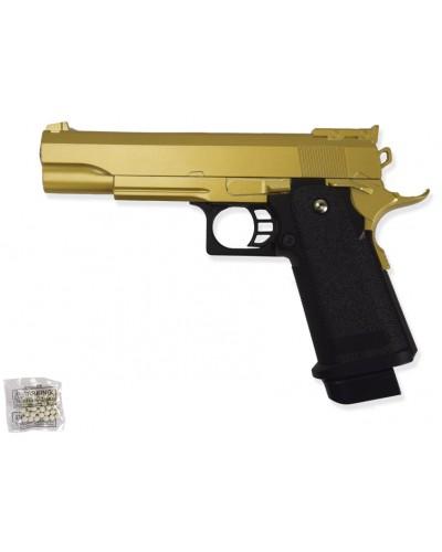 Пистолет метал.пластик G.6GD с пульками в коробке 22*16*3,4см