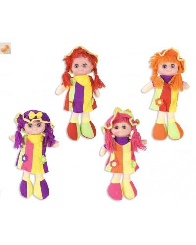 Кукла мягкая CEL-202 4 вида, МУЗ поет песенку, в пакете 40*19см, кукла - 33 см