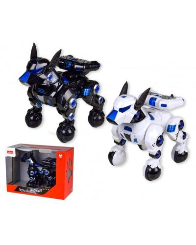Робот аккум. р/у 77900 собака танцует, встает и садится, поднимает задние лапы. 2цвета, свет