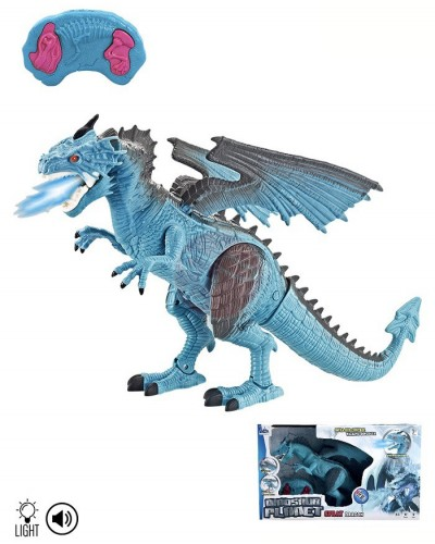 Животное на р/у RS6158 Дракон, пар,звук, движение, свет в коробке 53*13*30,5 см