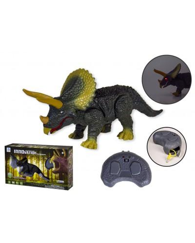 Животное на р/у 9988 динозавр, ходит,  рычит, светится, в коробке 33*8*20см