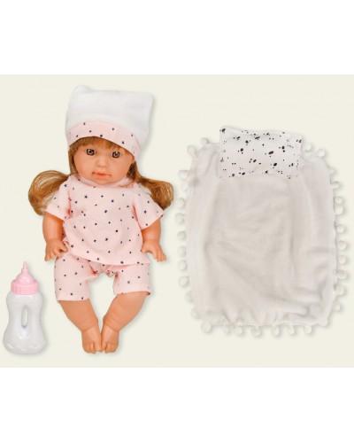Кукла функц AD8801-A10 муз, пьет-пис, подушка, одеяло, в кор.22*11*35см