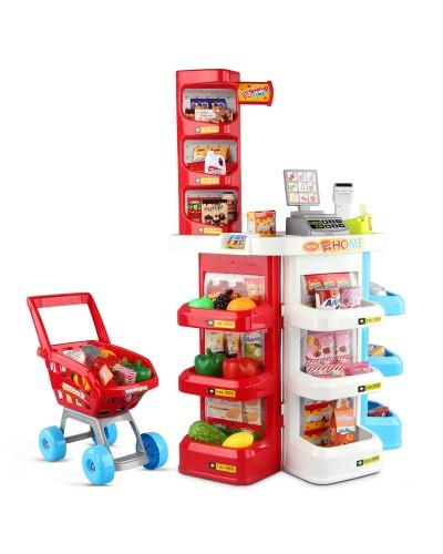 Набор Магазин 668-20 свет, звук, касса, тележка, продукты, в коробке 55*46*19см