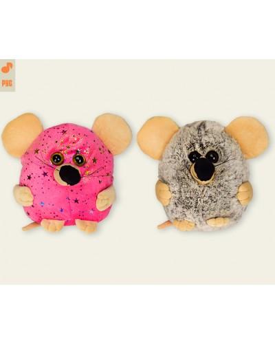 Мягкая игрушка M1248 муз мышка, скачет, поет рус песенку про мышку, 2 вида, в пакете 18*20см
