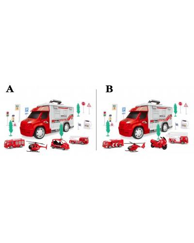 Паркинг 95577-22 Пожарная серия, 2 вида, в кор. 58*16.5*22см