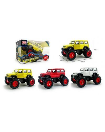 Машина металл. 1029-1A 1:32, Monster truck, свет, звук, аммортиз., 3 цвета, р-р машины 13,5*7,