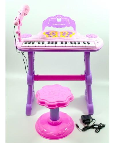 Орган S6001 микрофон, аккумул., на ножках, со стульчиком, в кор. 49*25*20 см