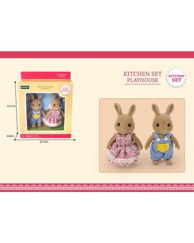 Животные флоксовые G06 Кролики, 2 фигурки, в коробке 13,7*4,6*15,1см