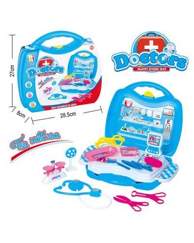 Доктор 8003A стетоскоп, очки, весы, рентген, аксес, в чемодане 28,5*27*8 см
