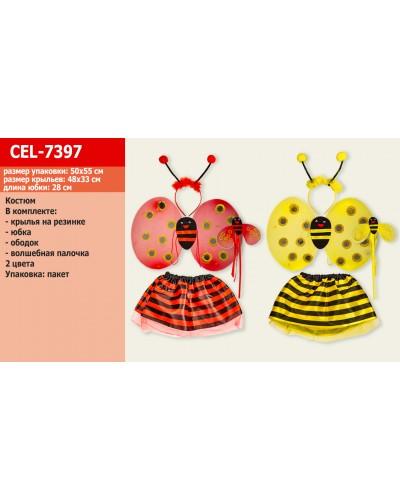 Костюм  CEL-7397 крылья, юбка, обруч, палочка, 2 вида, в пакете 50*55см