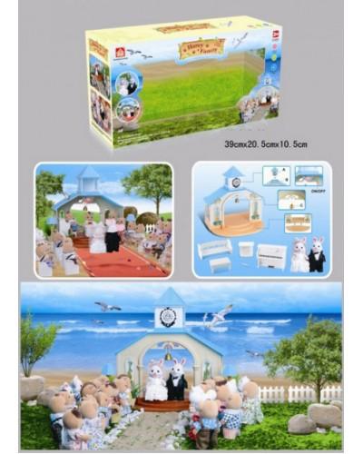 Животные флоксовые 012-09 Свадебная церемония, фигурки животных в комплекте, в короб.39*20,5*10,5см