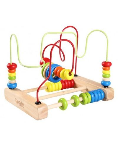 Логика-серпантинка YDL-1055 деревян. в коробке 23*18*16,5см