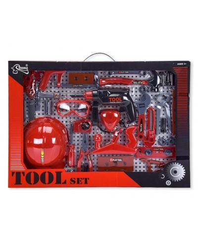 Набор инструментов T117B(B) (1064198) каска, очки, молоток, плоскогубцы, в кор.63*6*45см
