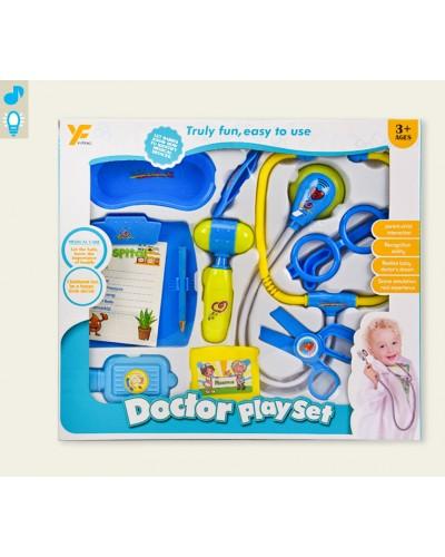Доктор 9901-5A (1823118) свет, стетоскоп, молоточек, очки, ножницы, планшет, в кор. 34,5*4,5*30,5см
